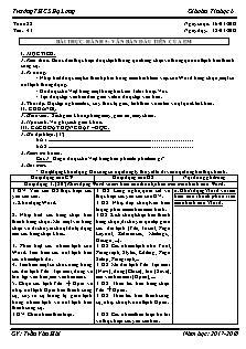 Giáo án Tin học 6 - Tiết 41 - Bài thực hành 5: Văn bản đầu tiên của em