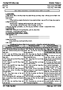 Giáo án Tin học 6 - Tiết 42 - Bài thực hành 5: Văn bản đầu tiên của em