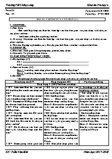 Giáo án Tin học 6 - Tiết 44 Bài 15 - Chỉnh sửa văn bản (tt)