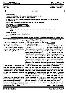 Giáo án Tin học 7 - Tiết 46 - Bài tập