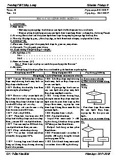 Giáo án Tin học 8 - Tiết 23 Bài 6 - Câu lệnh điều kiện (tt)