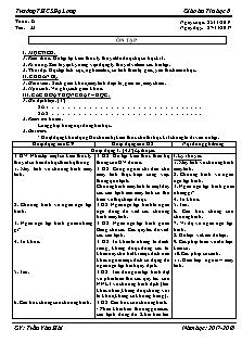 Giáo án Tin học 8 - Tiết 33 - Ôn tập
