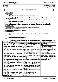 Giáo án Tin học 8 - Tiết 37 Bài 7 - Câu lệnh lặp