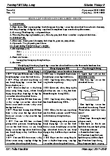 Giáo án Tin học 8 - Tiết 43 Bài 8 - Lặp với số lần chưa biết trước