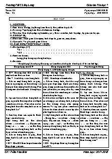 Giáo án Tin học 8 - Tiết 47 - Bài tập