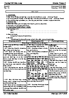 Giáo án Tin học 8 - Tiết 48 - Bài tập