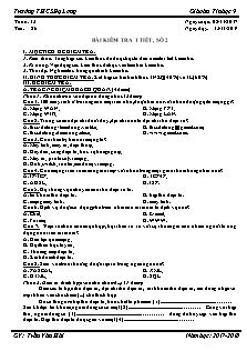 Giáo án Tin học 9 - Tiết 26 - Bài kiểm tra 1 tiết, số 2