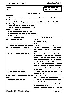 Giáo án Vật lý lớp 7 - Tiết 27: Ôn tập – bài tập