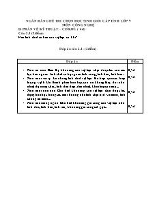 Ngân hàng đề thi chọn học sinh giỏi cấp tỉnh lớp 9 môn Công nghệ - Phần vẽ kĩ thuật, cơ khi câu 2