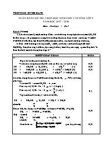 Ngân hàng đề thi chọn học sinh giỏi cấp tỉnh lớp 9 môn Hóa học - Câu 4