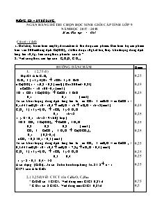 Ngân hàng đề thi chọn học sinh giỏi cấp tỉnh lớp 9 môn Hóa học - Câu 6