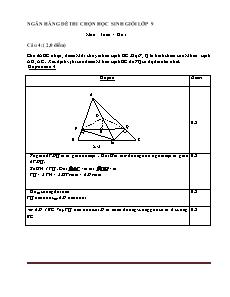Ngân hàng đề thi chọn học sinh giỏi lớp 9 môn Toán - Câu 4