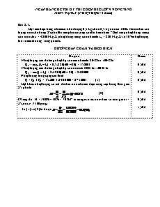 Ngân hàng đề thi chọn HSG cấp tỉnh môn Vật lí 9 - Phần Nhiệt học