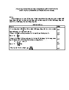 Ngân hàng đề thi chọn HSG cấp tỉnh môn Vật lí 9 - Phương án thực hành