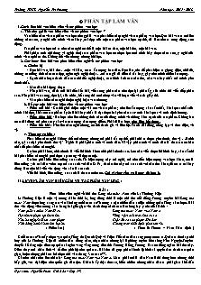Ôn tập Ngữ văn 7 học kì 1 - Trường THCS Nguyễn Tri Phương