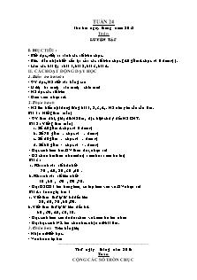 Giáo án Toán 1 - Luyện tập số tròn chục