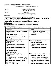 Giáo án Tuần 16 - Khối 5
