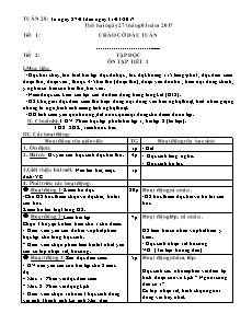 Giáo án Tuần 28 - Khối 5