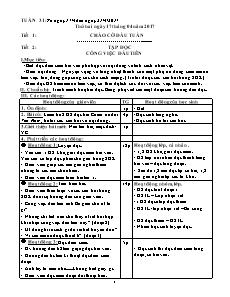 Giáo án Tuần 31 - Khối 5