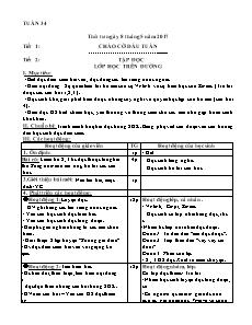 Giáo án Tuần 34 - Khối 5