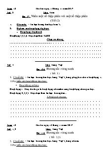 Dự kiến dạy học Toán 5 - Tuần 12