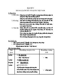 Giáo án Đạo đức 5 bài 11 (t2): Em yêu tổ quốc Việt Nam