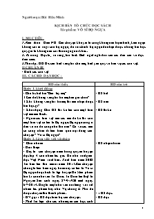 Giáo án Đọc sách cho em - Tác phẩm: Võ sĩ bọ ngựa