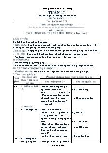 Giáo án Lớp 3 - Buổi sáng - Tuần 17 - Trường Tiểu học Cao Dương