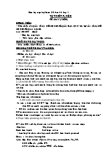 Giáo án Tự nhiên xã hội 3 - Tuần 22 Bài 44 - Rễ cây (tiếp)