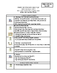 Hướng dẫn học tập môn Âm nhạc lớp 5 - Tiết 2 đến 10