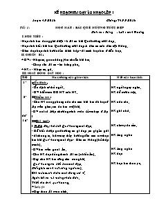 Kế hoạch bài dạy Âm nhạc lớp 1 cả năm