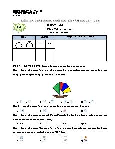 Kiểm tra chất lượng cuối học kì I môn Tin Học 4 - Đề 2