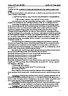 Tài liệu BDTX - Modul 23: Năng lực quản lý tài chính ở trường tiểu học theo tinh thần tự chủ, tự chịu trách nhiệm